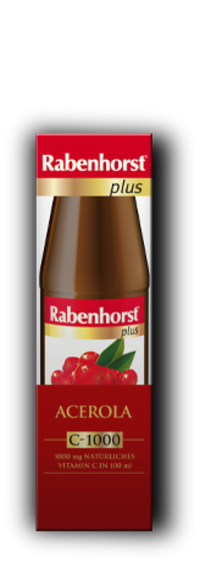 Piure de Acerola 1000mg Vitamina C/100ml - RABENHORST - 450ml