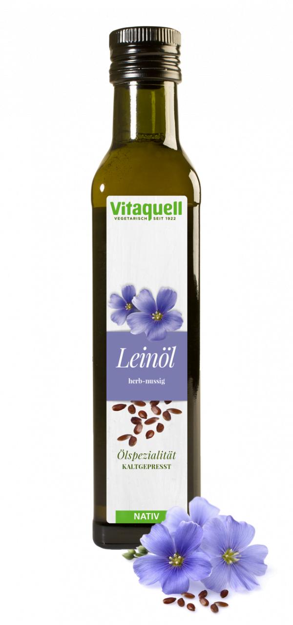 Ulei Virgin Nerafinat din Seminte de In - VITAQUELL - 250ml