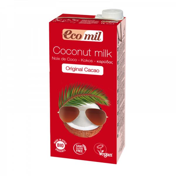 Lapte de Cocos Original cu Cacao, Ecologic - Bio EcoMil - 1L