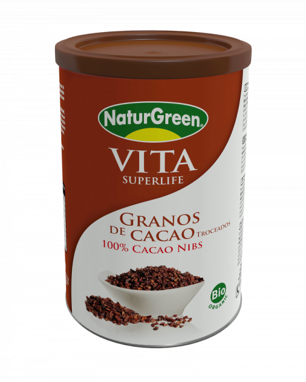 Fulgi (Boabe pisate) Neprajiti si Nefermentati de Cacao Bio NaturGreen - cutie 200g