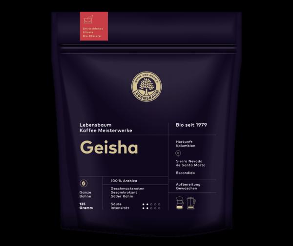 Cafea boabe GEISHA, Ecologica Bio Lebensbaum - 125 g