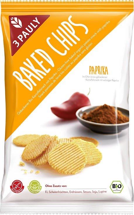Cips de Cartof cu Paprika, Fara Gluten Bio - 3 PAULY - 85g. Poza 6049