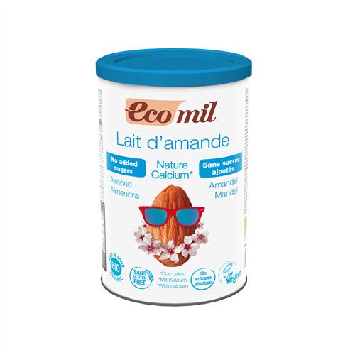 Pulbere solubila din Migdale Neindulcita NATURE Imbogatit cu Calciu Marin Organic, Ecologic BIO EcoMil – 400 g