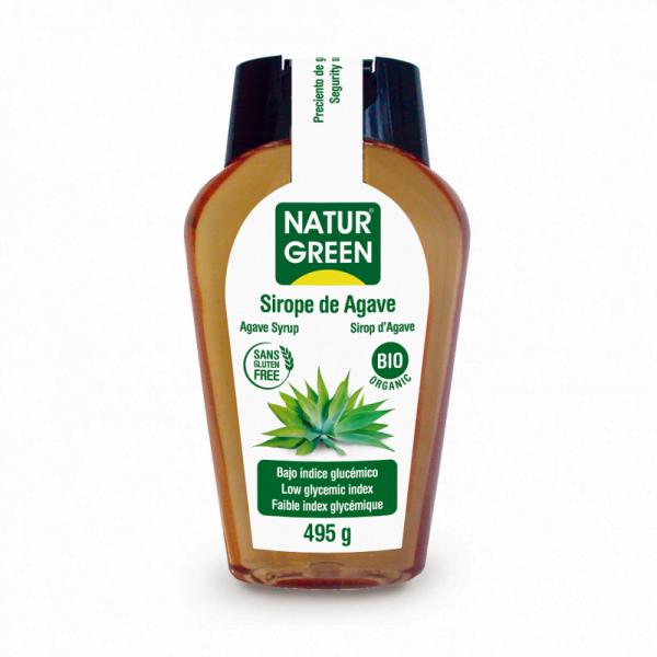 Indulcitor Sirop de Agave cu Indice Glicemic Scazut Bio - NaturGreen - 495g