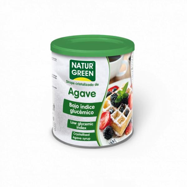 Indulcitor Zahar cristalizat de Sirop de Agave cu Indice Glicemic Scazut Bio - NaturGreen - 500g