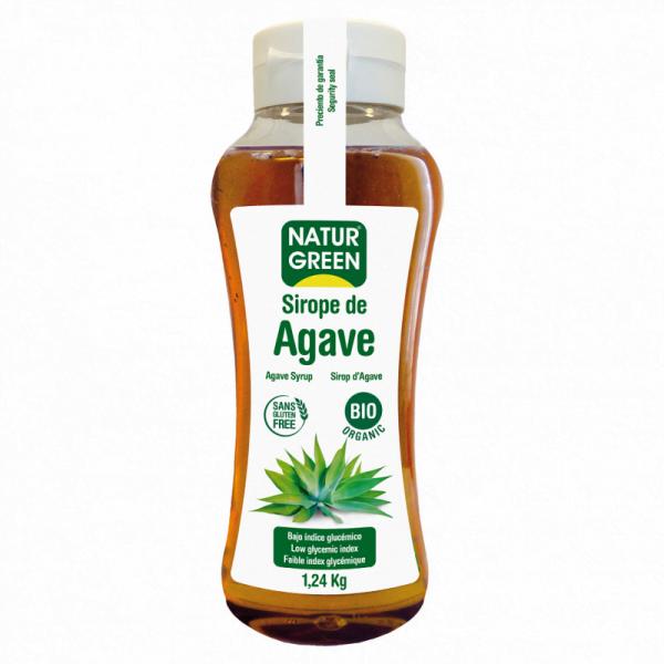 Indulcitor Sirop de Agave cu Indice Glicemic Scazut Bio - NaturGreen - 1,24 Kg