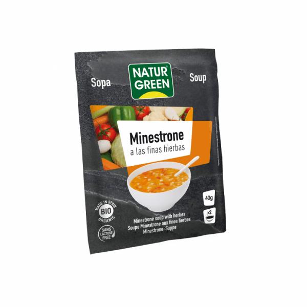 Supa Vegetala Minestrone cu Ierburi Fine Bio - NaturGreen - 40g