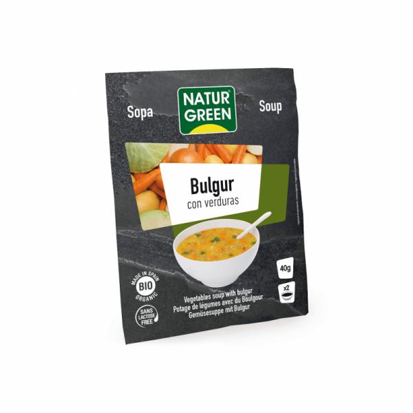Supa Vegetala Bulgur cu Verdeturi Bio - NaturGreen - 40g