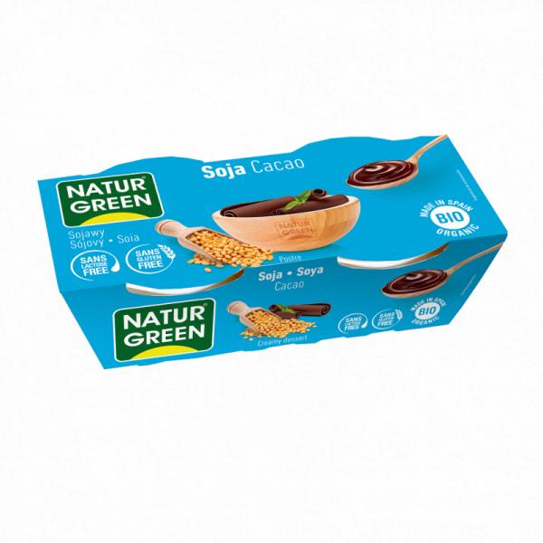 Desert Dietetic din Soia cu Cacao Bio - NaturGreen - 250g (2buc x125g)