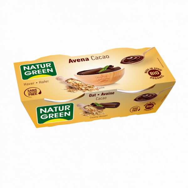 Desert Dietetic din Ovaz cu Cacao Bio - NaturGreen - 250g (2buc x125g)