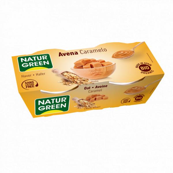 Desert Dieteic din Ovaz cu Caramel Bio - NaturGreen - 250g (2buc x125g)
