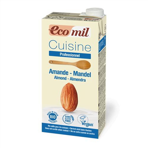 Smantana/ Crema de Migdale pentru Gatit cu Sirop de Agave, BIO EcoMil - Cutie 1 L. Poza 6353