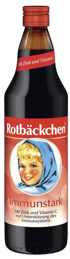 Obraji Imbujorati pentru SISTEMUL IMUN, Bogat in Vitamina C Naturala BIO ROTBACKCHEN  - 750 ml. Poza 6514