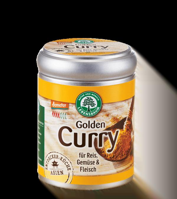 Amestec de condiment CURRY AURIU, pentru orez, legume si carne. BIO LEBENSBAUM  - cutie 55 g. Poza 6526