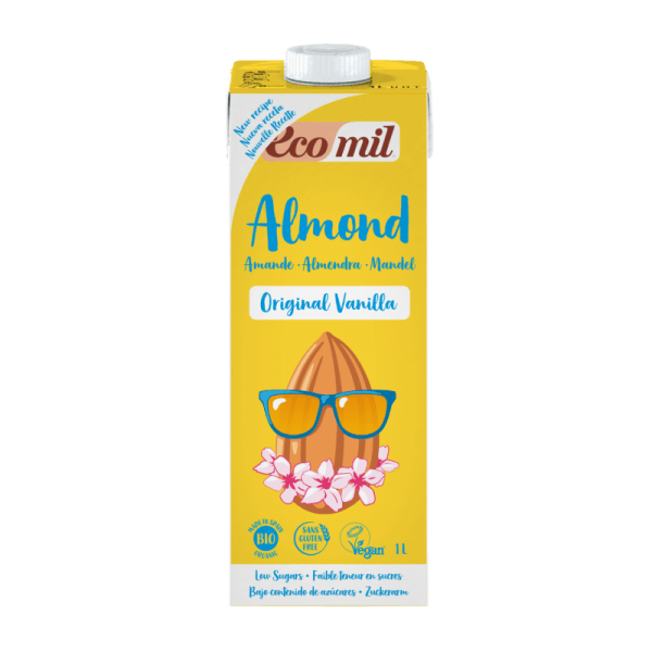 Lapte din Migdale cu Vanilie indulcit cu Agave BIO EcoMil - 1000ml. Poza 6611