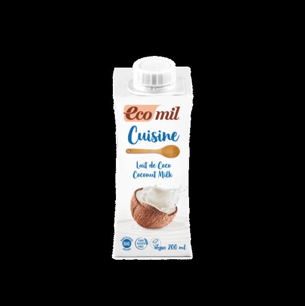 Lapte/ Crema de Cocos pentru Gatit BIO EcoMil - 200ml. Poza 6614