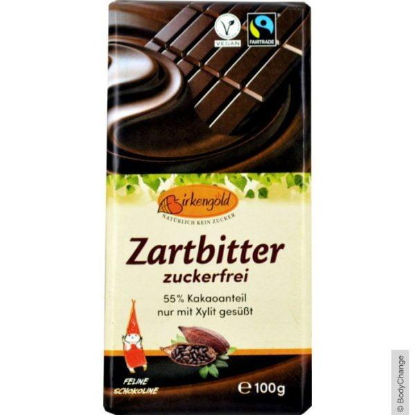 Ciocolata Neagra, Vegana, Fara Zahar (55% CACAO) - BIRKENGOLD - 100 g. Poza 6706