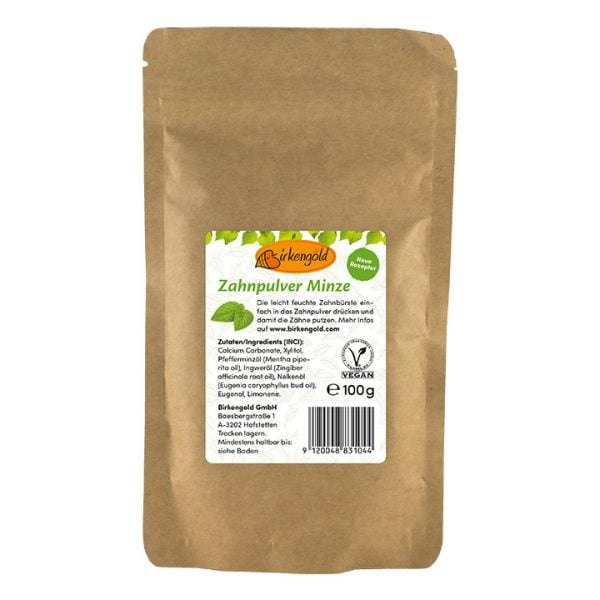 Pasta de Dinti cu Menta - 100% Naturala - BIRKENGOLD - 100 g. Poza 6710