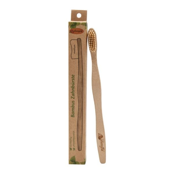 Periuta de Dinti din Bambus, pentru Adulti - 100% Natural - BIRKENGOLD. Poza 6713