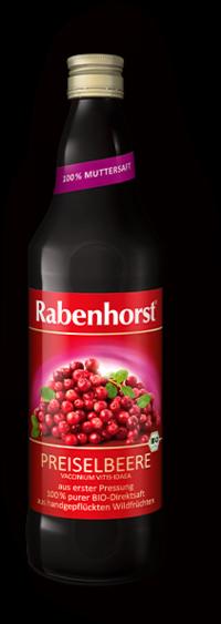 Suc de Merisor European/ Cowberry/ Afine rosii, Ecologic - RABENHORST - 330 ml. Poza 6777