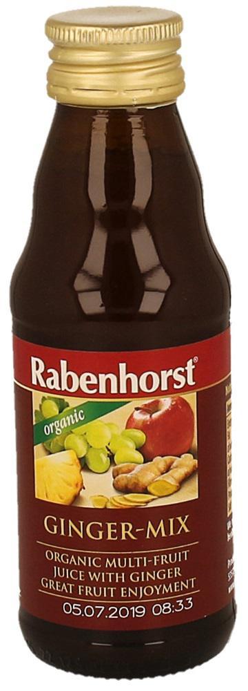 Mix de Sucuri cu Ghimbir , ecologic - Bio RABENHORST - 125 ml. Poza 6783